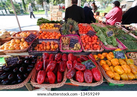 Sanary market, in the south of france