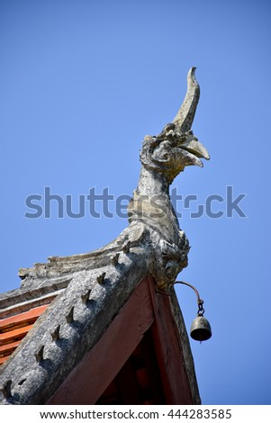 sanctuary in Nan, Thailand, blue sky, blue sky cloud - stock photo