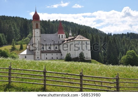 Sanctuary Maria Weissenstein in South Tyrol