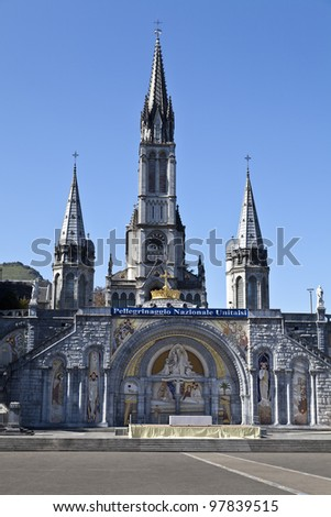 Sanctuary Of Lourdes - stock photo