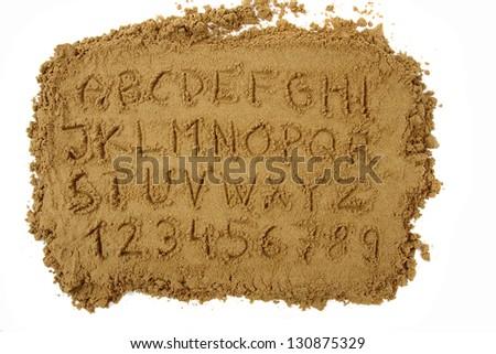sand alphabet - stock photo