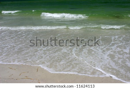 Sand and ocean. Gulf of Mexico Madeira beach Florida - stock photo