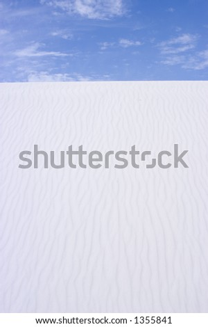 Sand and sky - White Sands National Monument - New Mexico