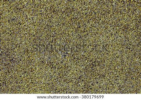 dark green carpet texture. sand and stones background dark green carpet texture