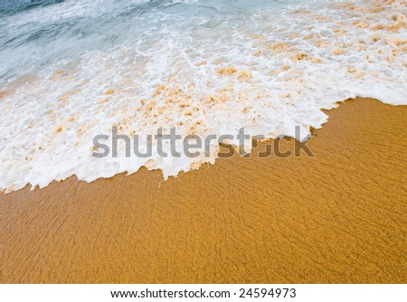 sand and waves