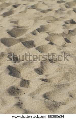 Sand at the beach, isolated.