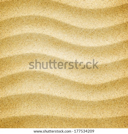 Sand background texture. Close-up of coarse sand grains - stock photo