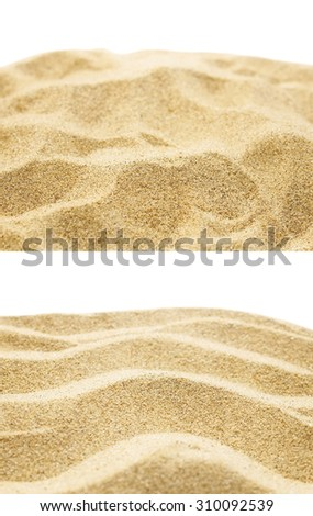 sand background texture isolated on white - stock photo