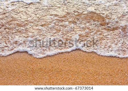 sand beach - stock photo
