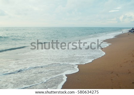 sand beach and sea wave background