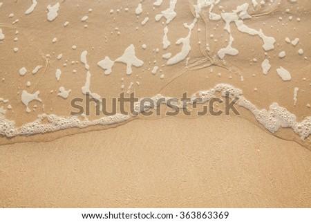 Sand beach and wave at koh lanta,Thailand. - stock photo