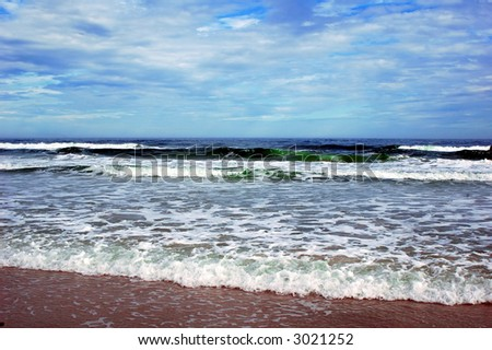sand beach at the ocean - stock photo