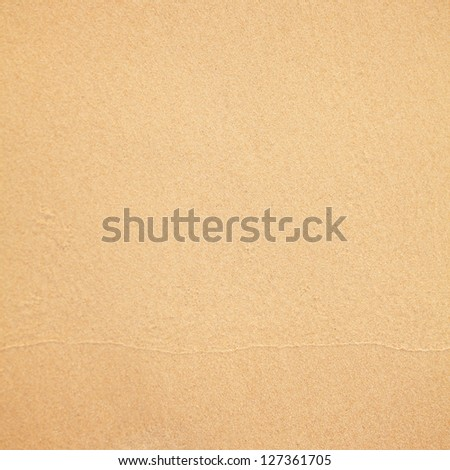 Sand beach background - stock photo