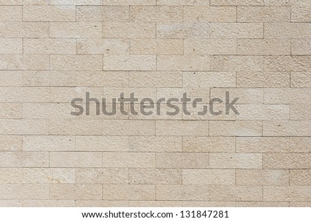 sand brick wall - stock photo