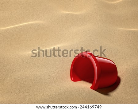 Sand Bucket - stock photo