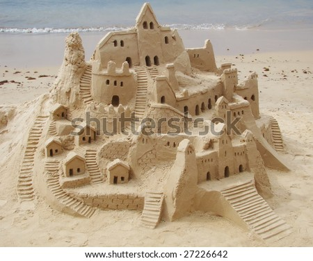 sand castle in brazilian beach
