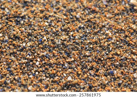 Sand close-up - stock photo