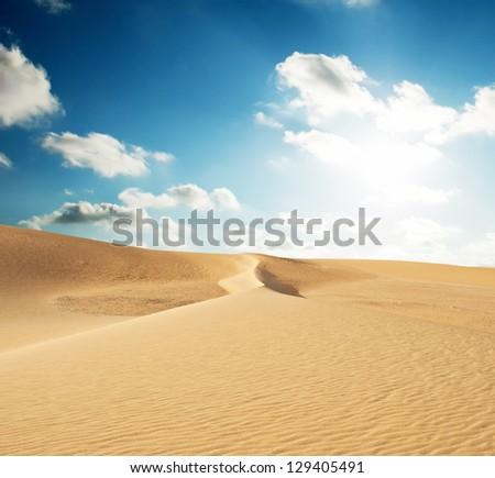 sand desert - stock photo