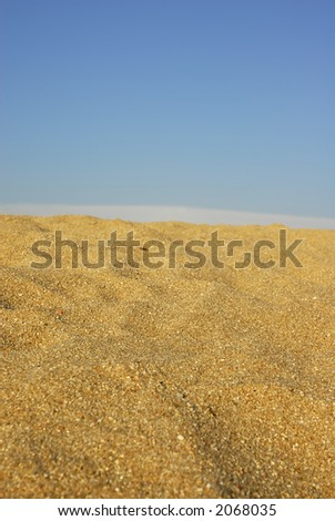 sand dune and the - stock photo