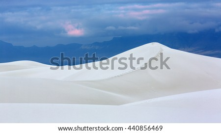 Sand Dune at White Sands National Monument, New Mexico, USA - stock photo