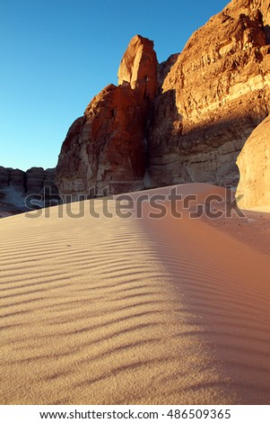 Sand dune in mountains
