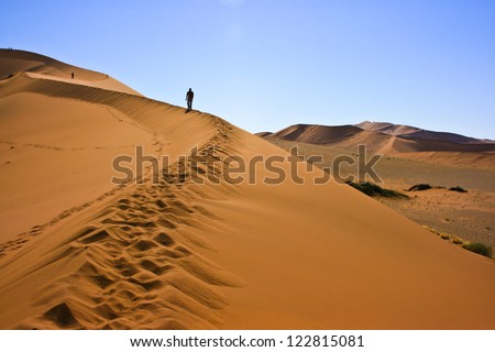 Sand dune in Namib-Naukluft National Park, Namibia - stock photo