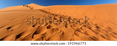 Sand Dune Landscape at Sossusvlei in the Namib Desert, Namibia, Africa - stock photo