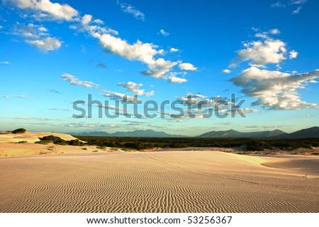 sand dune of cumbuco in ceara state brazil - stock photo