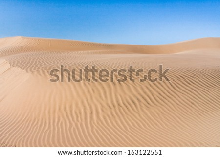 Sand dune of desert in southern Madagascar - stock photo