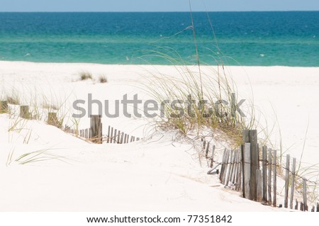 sand dune on Perdido Key, Florida - stock photo