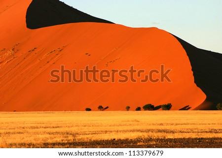 Sand Dune, Sossusvlei, Namibia - stock photo