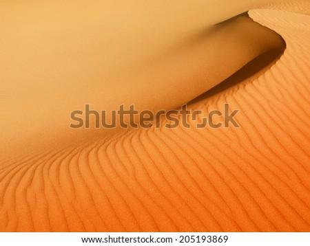 Sand dune texture - stock photo