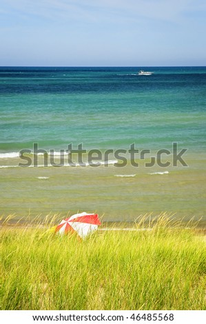 Sand dunes at beach. Pinery provincial park, Ontario Canada - stock photo