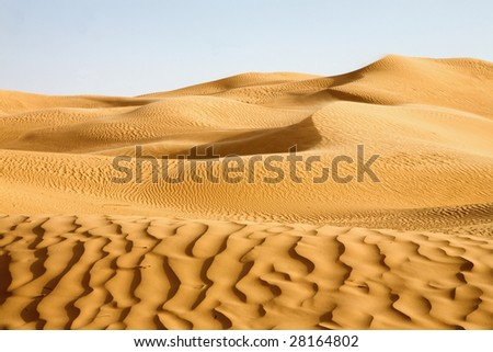 Sand dunes; Awbari, Libya - stock photo