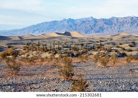 Sand Dunes - Death Valley National Park, California USA - stock photo