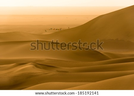 Sand dunes in Dunhuang, Gansu of China