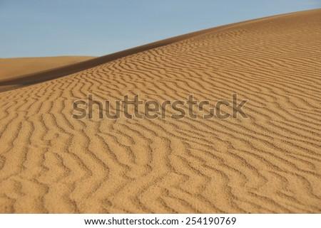 Sand dunes in Mui Ne, Vietnam. - stock photo