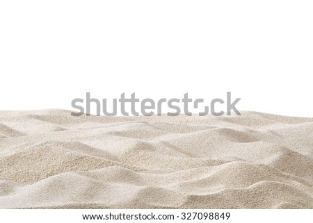 Sand dunes isolated on white background - stock photo