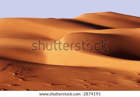 Sand dunes, Libya - stock photo