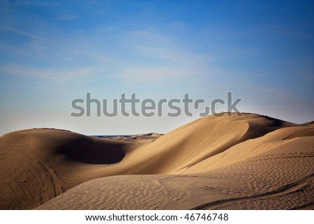 Sand dunes located in southern California - stock photo