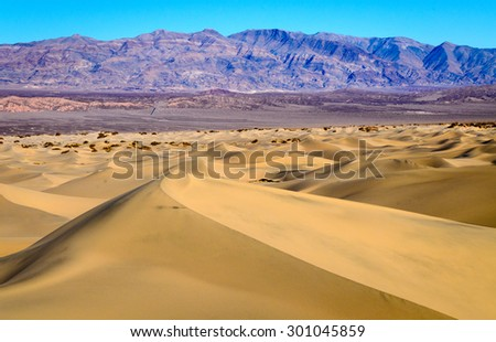 Sand Dunes of Death Valley National Park - stock photo