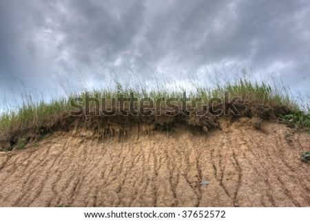 sand dunes on Lake Huron, Ontario, Canada - stock photo
