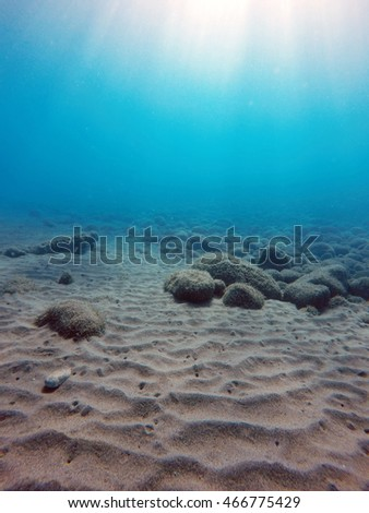 sand dunes on the sea floor
