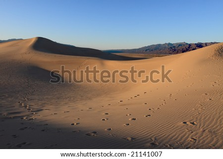 Sand Dunes, Stovepipe Wells, Death Valley - stock photo