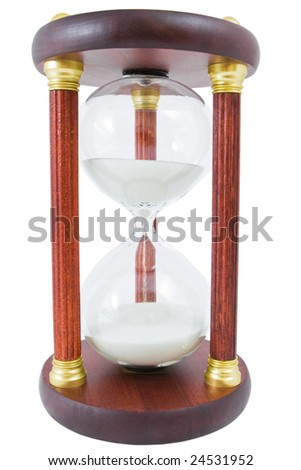sand-glass on a white - stock photo