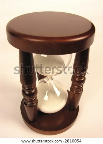 sand-glasses isolated - stock photo