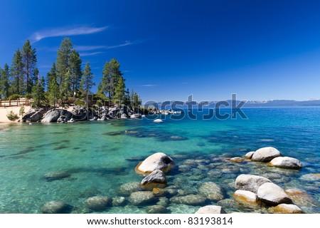 Sand Harbor, Lake Tahoe - stock photo