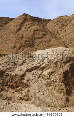 Sand Hills at the Quarry - stock photo