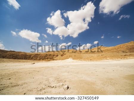 Sand Hills of Samaria, Israel. Sunset - stock photo