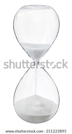 Sand hour glass timer - stock photo